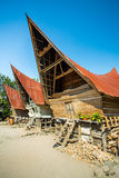 Batak houses on the Samosir island, lake Toba, Indonesia Stock Image