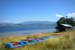 Batak lake shore view Royalty Free Stock Photos