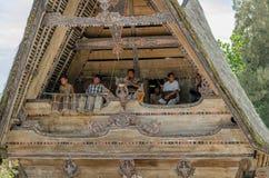 Batak musicians in Sumatra, Indonesia Royalty Free Stock Photos
