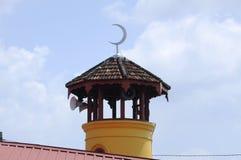 Batak Rabit清真寺尖塔在Teluk Intan,霹雳州 库存照片
