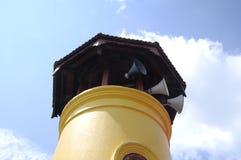 Batak Rabit清真寺尖塔在Teluk Intan,霹雳州 免版税库存照片
