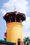 Batak Rabit清真寺尖塔在Teluk Intan,霹雳州 免版税库存图片