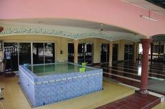 Batak Rabit清真寺的洗净液在Teluk Intan,霹雳州 免版税库存图片