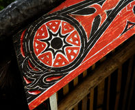 Batak's house ornament in Sumatra Royalty Free Stock Image