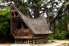 Batak's house in Sumatra Stock Images