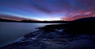 Batak sunrise. Low light sunrise at the Batak dam lake Stock Photos