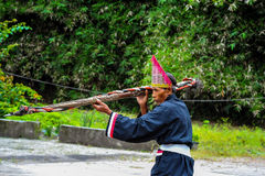 Batak Wizard in a traditional ceremonial costume Royalty Free Stock Photo
