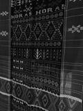Bataknese traditionell torkduk Arkivbilder