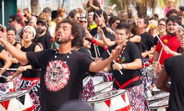 Batala drummers Stock Photos