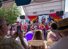 Batala NYC no orgulho de Rockland County Foto de Stock Royalty Free