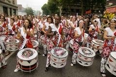 Batala performing at Notting Hill Carnival royalty free stock photography