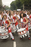 Batala performing at Notting Hill Carnival Royalty Free Stock Photo