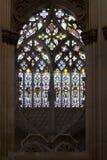 1386 1517年batalha编译地区estremadura遗产莱利亚修道院葡萄牙站点科教文组织世界 哥特式污迹玻璃窗在Capela做Fundador 免版税库存照片