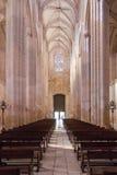 1386 1517年batalha编译地区estremadura遗产莱利亚修道院葡萄牙站点科教文组织世界 教堂中殿、教会的走道和入口 图库摄影