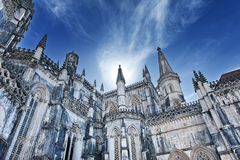 Batalha Abbey. Famous monastery in Portugal. Batalha and monastery were founded by King D. João I of Portugal to pay homage to the Portuguese victory at the Stock Images