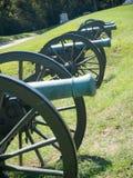 Batalha alinhada cânones da guerra civil de Vicksburg fotos de stock