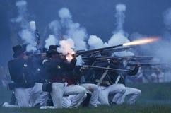 Batalha americana da noite fotografia de stock