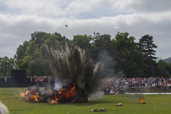 Batalha da explosão do Reenactment de Somme Imagens de Stock Royalty Free