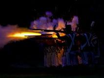 Batalha da noite Fotografia de Stock Royalty Free