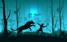 Batalha da selva Imagem de Stock Royalty Free