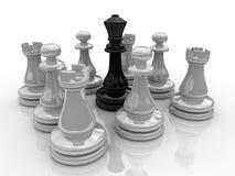 Batalha da xadrez ilustração royalty free
