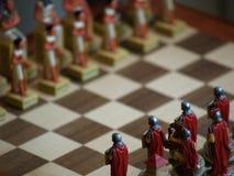 Batalha da xadrez Imagens de Stock Royalty Free