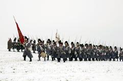 Batalha de Austerlitz Foto de Stock