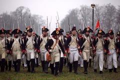 A batalha de Austerlitz Imagens de Stock
