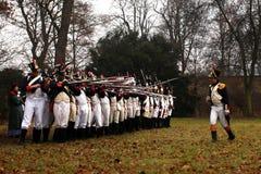 A batalha de Austerlitz Fotos de Stock