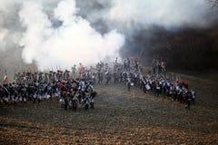 A batalha de Austerlitz, igualmente conhecida como a batalha dos três imperadores, era uma das grandes vitórias de Napoleon, onde Foto de Stock
