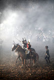 A batalha de Austerlitz, igualmente conhecida como a batalha dos três imperadores, era uma das grandes vitórias de Napoleon, onde Fotos de Stock Royalty Free