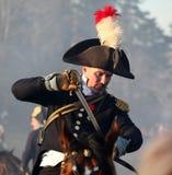 A batalha de Austerlitz, igualmente conhecida como a batalha dos três imperadores, era uma das grandes vitórias de Napoleon, onde Fotos de Stock