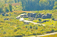 Batalha de Gettysburg: O antro do diabo imagens de stock royalty free