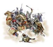 Batalha de Hastings - 1066 ilustração do vetor