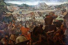 Batalha de Kaptol e de Gradec, a ponte ensanguentado foto de stock royalty free