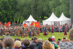 Batalha de mil espadas Foto de Stock Royalty Free