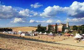 Batalha de Moravia Fotos de Stock Royalty Free