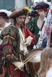 Batalha de Pavia: Landsknecht com cilindro fotos de stock