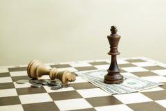 Batalha de reis da xadrez Foto de Stock Royalty Free