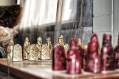 Batalha de sagacidades imagens de stock royalty free