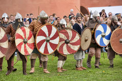 Batalha de Viking imagens de stock