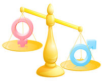 Batalha do conceito dos sexos Fotografia de Stock
