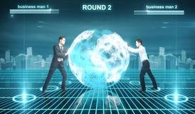 Batalha no Cyberspace fotos de stock royalty free