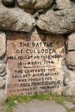 Batalha do monumento de Culloden Imagens de Stock Royalty Free