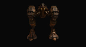 Batalha do robô mech Fotos de Stock Royalty Free