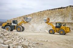 Batalha dos dois escavadores gigantes Fotos de Stock