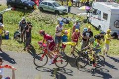 Batalha em Jura Mountains - Tour de France 2016 Fotos de Stock