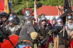 Batalha encenada medieval - Rievocandum 2015 Fotos de Stock
