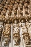 Batalha Monastery. Apostles statues Stock Photos