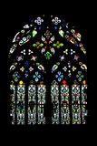 Batalha Monastery. Gothic stained-Glass window Royalty Free Stock Photo